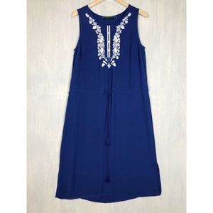 C. Wonder embroidered midi dress cobalt 10